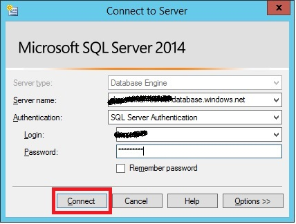 SQLServer-connect-to-Azuredb