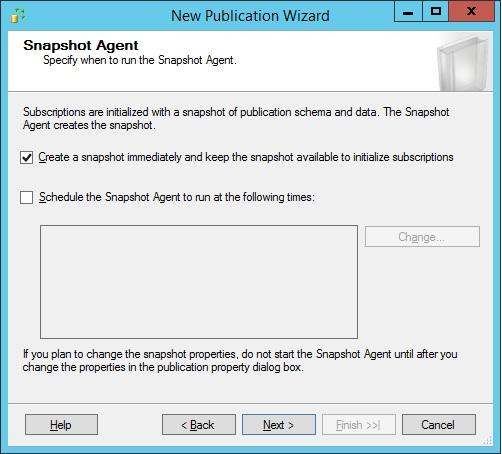 SQLServer-snapshot-agent